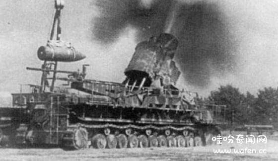 世界上最大口径的重型臼炮卡尔臼炮口技600毫米弹药重达2吨